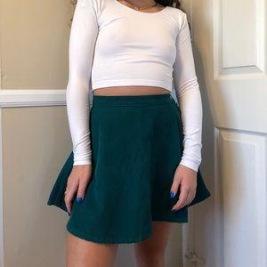 American apparel teal corduroy circle skirt